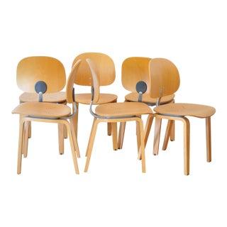 Giancarlo Piretti Xylon Chairs - Set of 6 For Sale