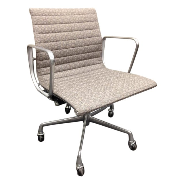 Eames Taupe Aluminum Group Chair - Image 1 of 5