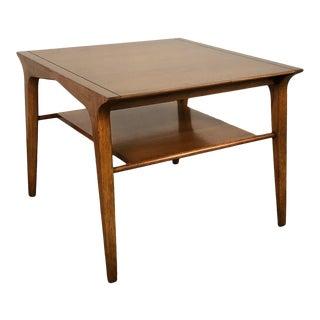 John Van Koert for Drexel Profile Mid-Century Modern Walnut End Table / Nightstand For Sale