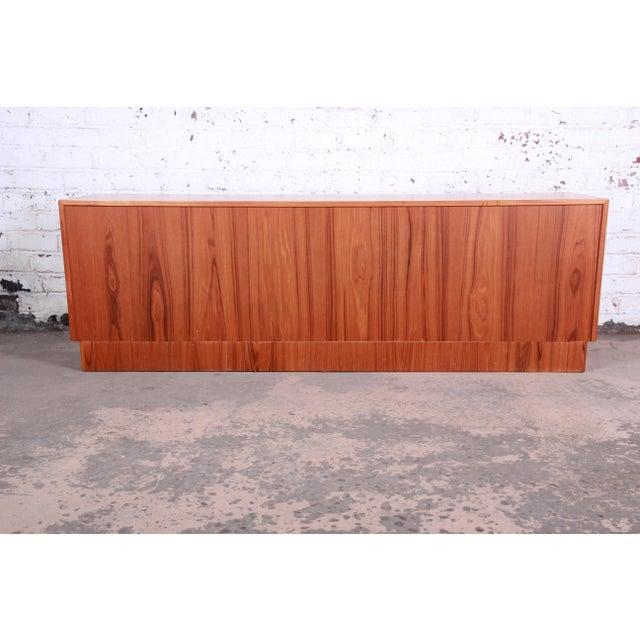 Bernhard Pedersen & Son Danish Modern Teak Tambour Door Sideboard Credenza For Sale - Image 11 of 13