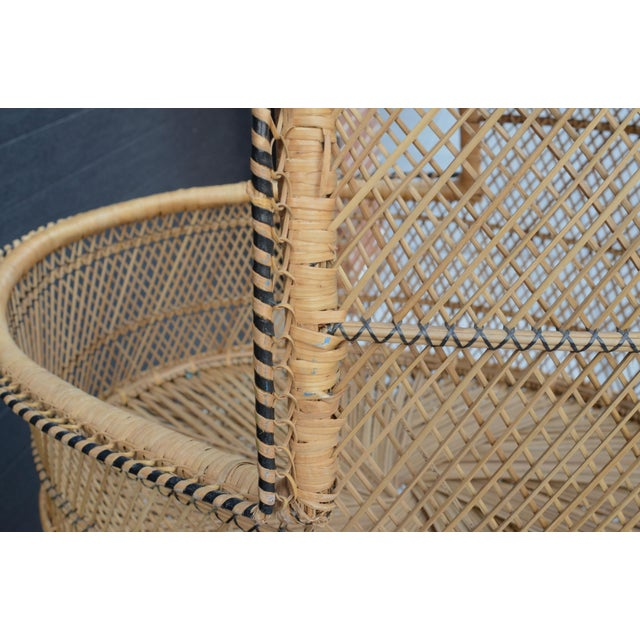 Vintage Woven Wicker Freestanding Bassinet For Sale In New York - Image 6 of 9