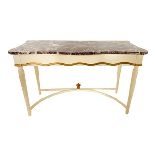 Hollywood Regency Marble-Top Console For Sale