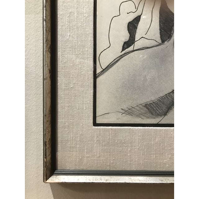 Abstract Mid Century Abstract Nude Drawing For Sale - Image 3 of 5