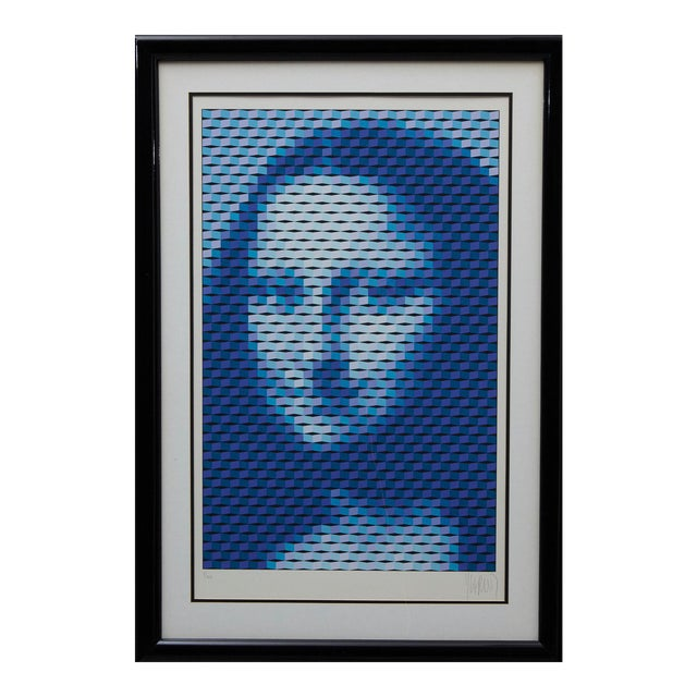 """Yvaral (Jean-Pierre Vasarely) """"Mona Lisa"""" Serigraph For Sale"""