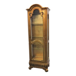 French Style Gilt Carved Curio For Sale