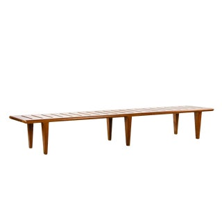 1950s Vintage Johannes Hansen for Hans Wegner Slatted Bench For Sale