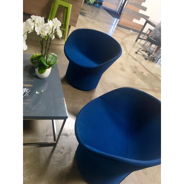 Avalon by Swedese Blue Circular Swivel Chairs - a Pair For Sale In San Francisco - Image 6 of 10