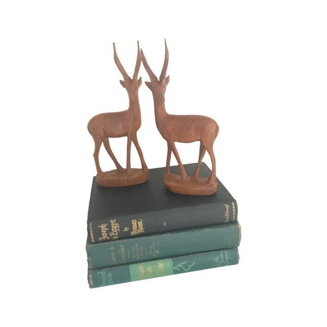 Mid-Century Wood Gazelles - A Pair - Image 4 of 5