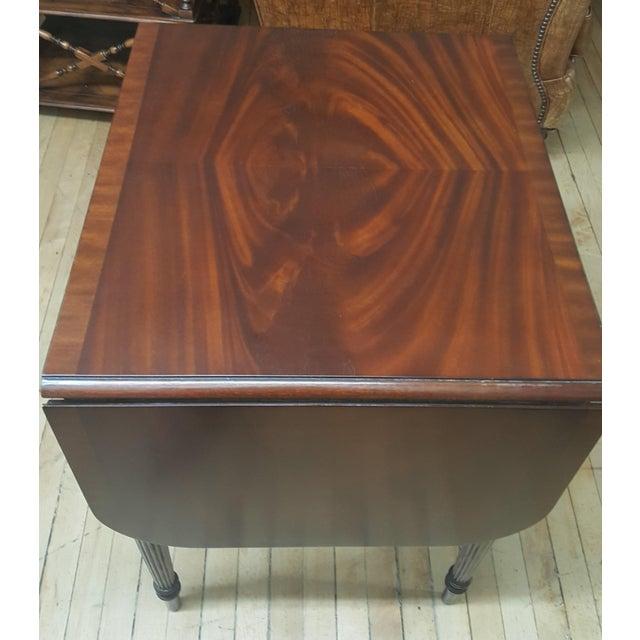 2010s Maitland Smith Mahogany Pembroke Table For Sale - Image 5 of 12
