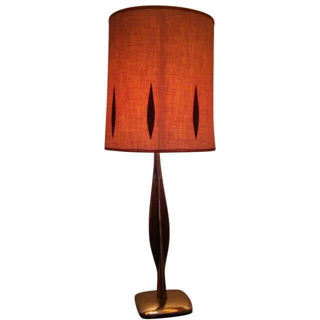 Vintage Mid-Century Brass Table Lamp - Image 1 of 6