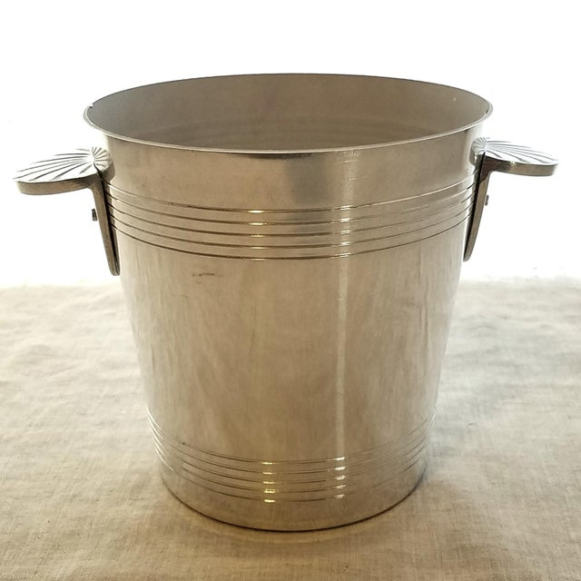 Vintage Mumm Cuvee Napa Valley California petite scale sparkling wine ice bucket. The material is aluminum and crafted in...