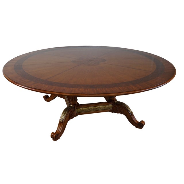 Henredon Louis XV Mahogany Inlaid Dining Table - Image 1 of 10