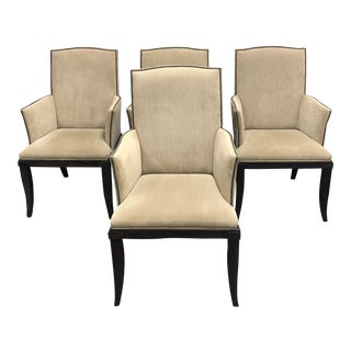 Century Furniture Thomas O'Brien Chelsea Arm Chairs - Set of 4 For Sale