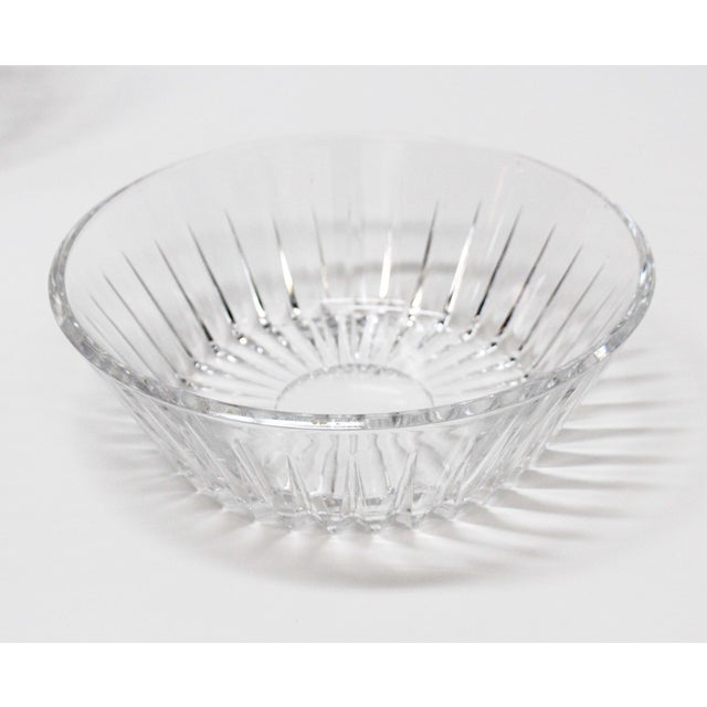 Val St Lambert Crystal Bowl & Plate Set - 4 For Sale - Image 6 of 9