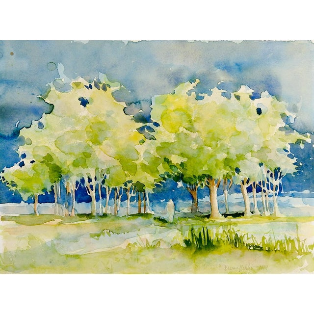 Plein Air Watercolor Landscape Painting For Sale