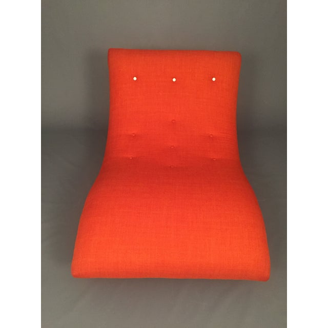 Adrian Pearsall Style Orange Wave Lounge Chaise - Image 5 of 11
