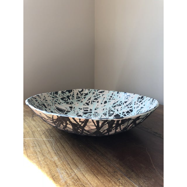 Green Scandinavian Pollack Style Ceramic Bowl For Sale - Image 8 of 11