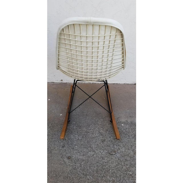 Mid-Century Modern Eames Wire Seat Rkr Rocker For Sale - Image 3 of 9