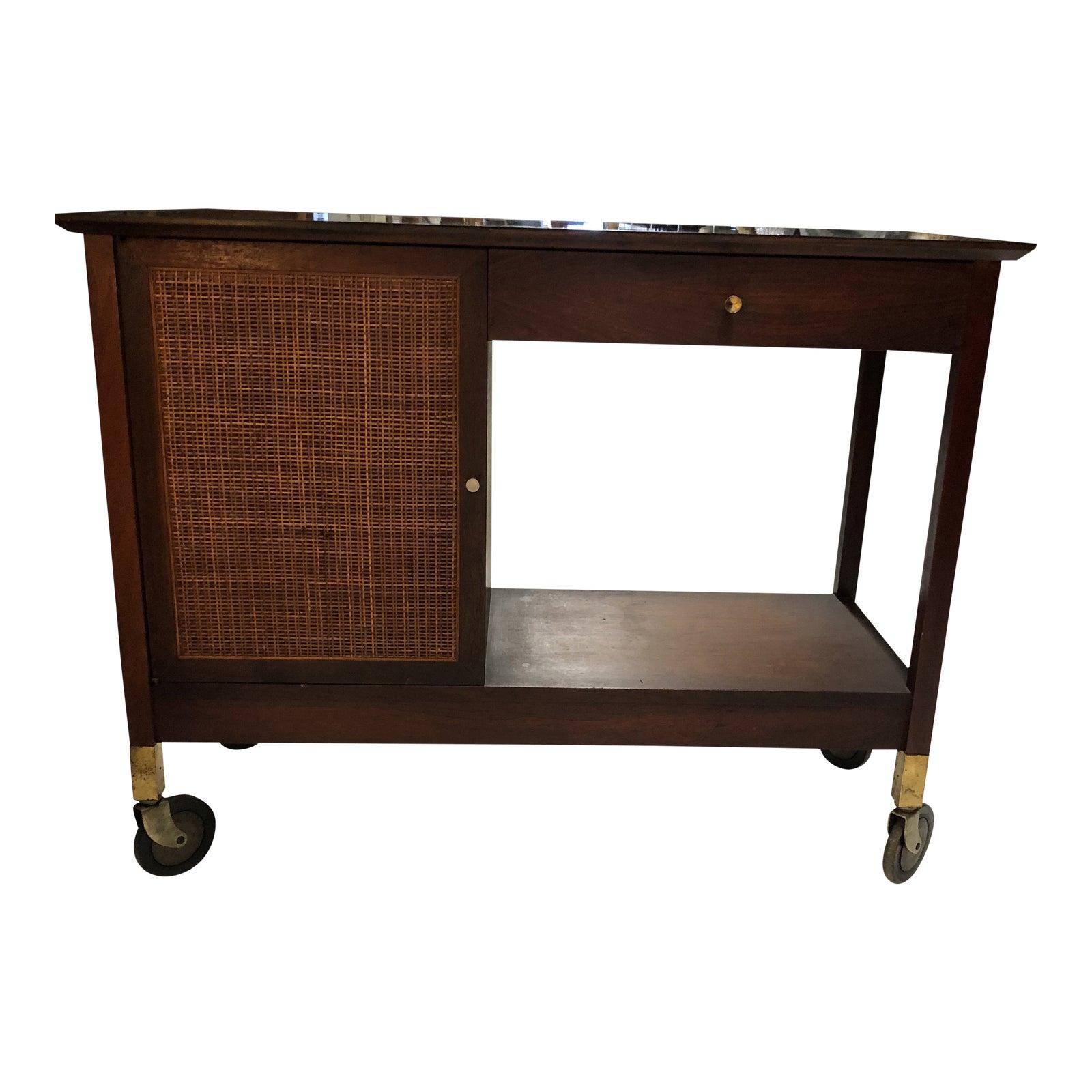 Midcentury bar cart chairish