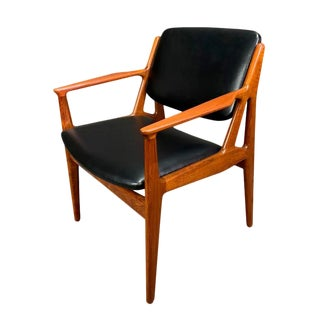 "Mid Century Vintage Arne Vodder Danish Modern Teak ""Ella"" Chair For Sale"