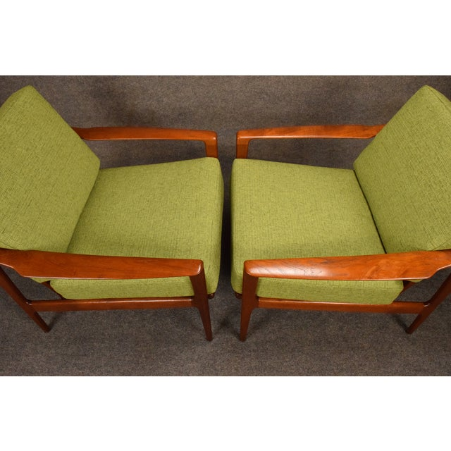 1960s Mid Century Modern Teak Lounge Chairs - a Pair For Sale In San Diego - Image 6 of 11