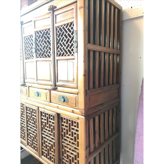 Vintage Bamboo Cabinet - Image 3 of 6