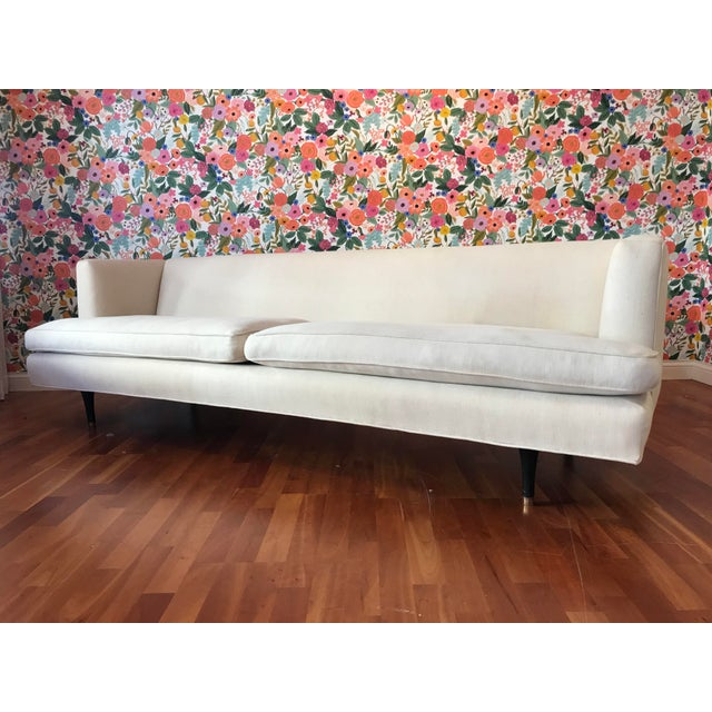 Mid-Century Modern 1950s Mid-Century Edward Wormley for Dunbar Arm Sofa #4907 For Sale - Image 3 of 9