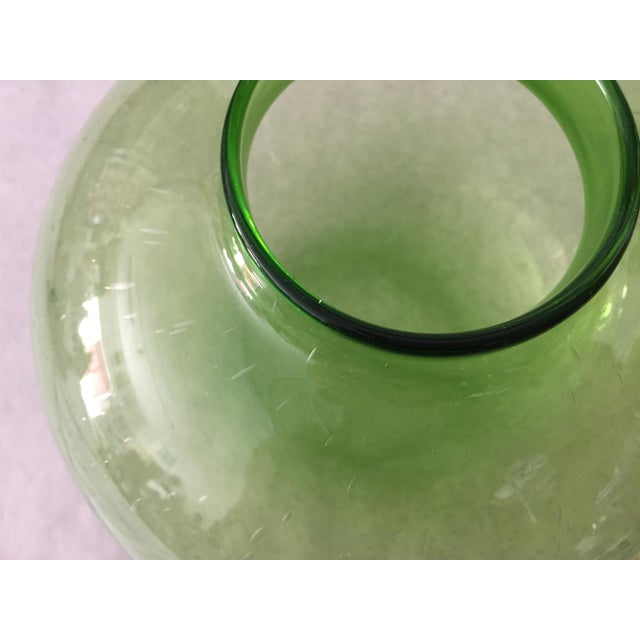 Handblown Vintage Green Vase - Image 4 of 5