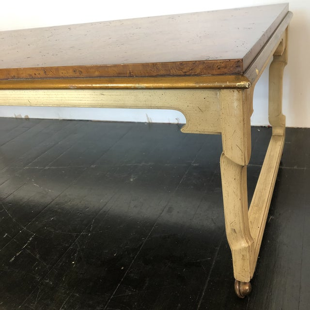 1960s Tomelinson Burled Wood Coffee Table For Sale - Image 5 of 11