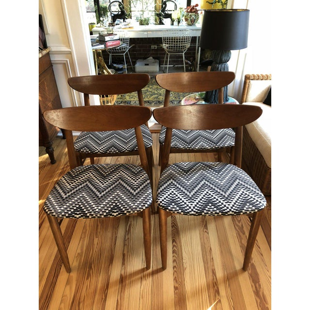 White 1960's Danish Modern Harry Ostergaard Dining Chairs - Set of 4 For Sale - Image 8 of 10