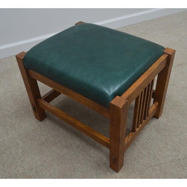 Mission Stickley Oak Morris Chair W/ Ottoman - 2 Pieces For Sale - Image 10 of 13