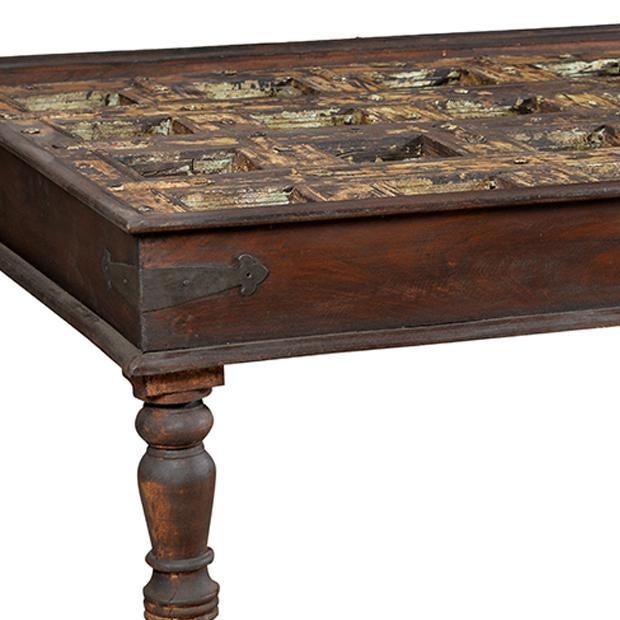 Old Indian Door Coffee Table