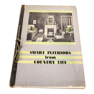 "1950s Vintage Hand Bound ""Smart Interiors From Country Life"" Book"