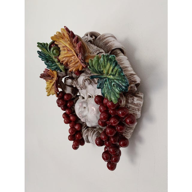 Apolito Italian Dionysus Wall Hanging Sculpture For Sale - Image 4 of 9