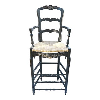1980s Painted French Country Bar Chair For Sale