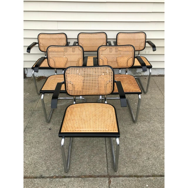 Vintage Mid-Century Modern Marcel Breuer Cesca Style Chairs - Set of 6 For Sale - Image 13 of 13
