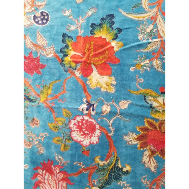 7 yards 45 inches wide super soft and thick cotton upholstery velvet . Amazing vibrant chinoiseri design of flowers. Great...