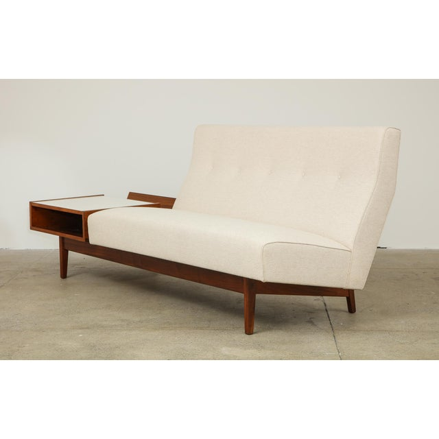 1950s Jens Risom Sofa With Magazine Table For Sale - Image 5 of 13