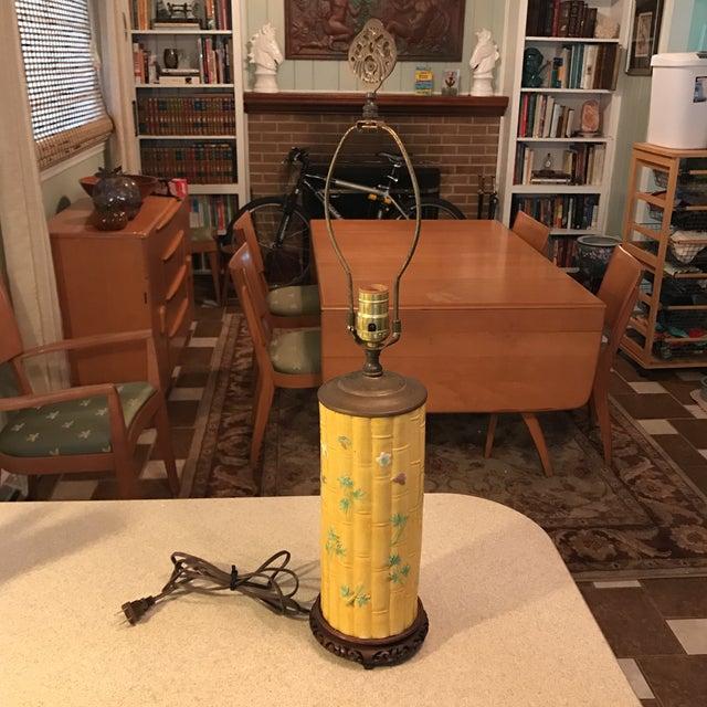 Asian Bamboo Motif Lamp - Image 2 of 11