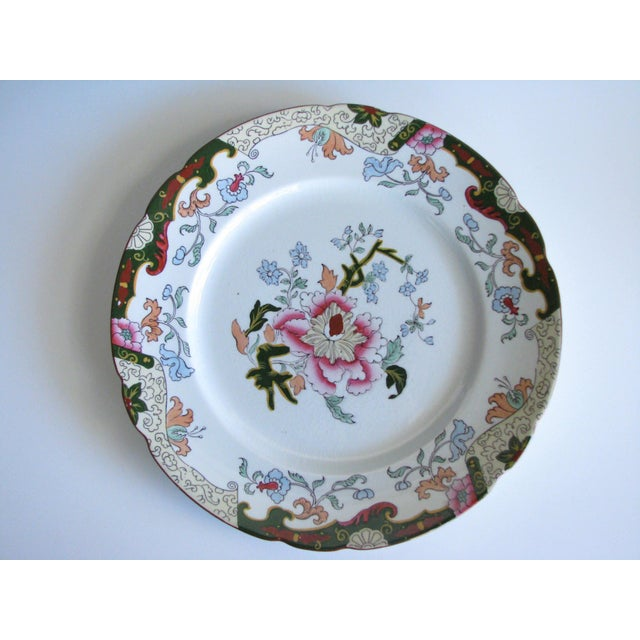 Asian Antique Ashworth Brothers Hanley English Dinner Plates - Set of 5 For Sale - Image 3 of 10