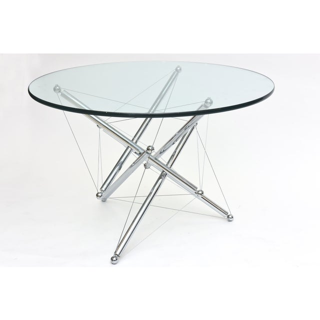 Silver Italian Modern Polished Chrome Low Table, Theodore Waddell for Cassina For Sale - Image 8 of 9