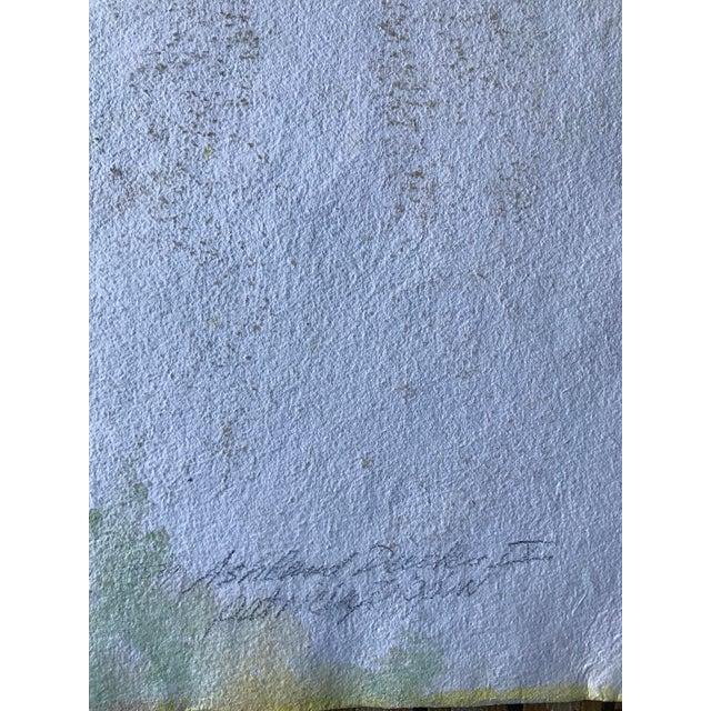 "Patricia Zippin 1980s Abstract Mixed Media ""Ashland Ducks Ix"" For Sale - Image 4 of 5"