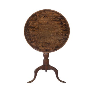 Late 18th Century Oak Tilt-Top Tripod Table, English Circa 1780 For Sale