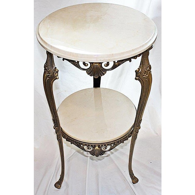 Italian Bronze & Marble Side Table - Image 3 of 6