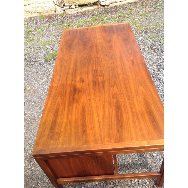 Jens Risom Walnut Executive Desk - Image 9 of 10