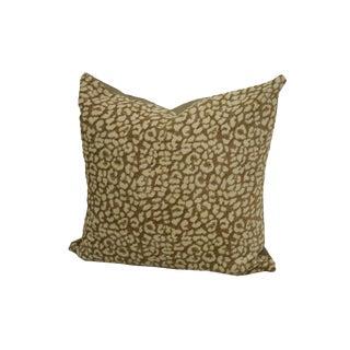 Chenille Leopard Spot Throw Pillow