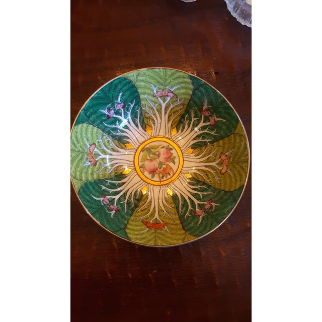 Vintage Porcelain Butterfly and Bok Choy Leaf Bowl For Sale In Los Angeles - Image 6 of 9