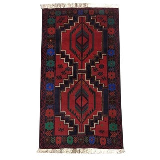 Traditional Tribal Hand Knotted Rug- 2′11″ × 5′4″ For Sale