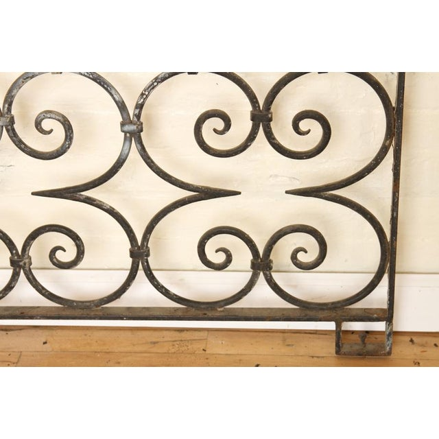 Mediterranean 1940s Antique Large Wrought Iron Architectural Panel Divider For Sale - Image 3 of 4