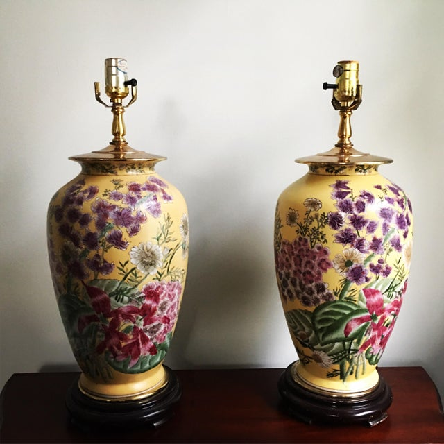 Porcelain Chinoiserie Ginger Jar Lamp by Kinder Harris For ... |Yellow Ginger Jar Table Lamps